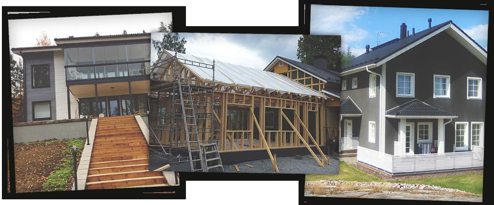 Uudisrakentaminen, remontointi ja kirvesmiestyöt